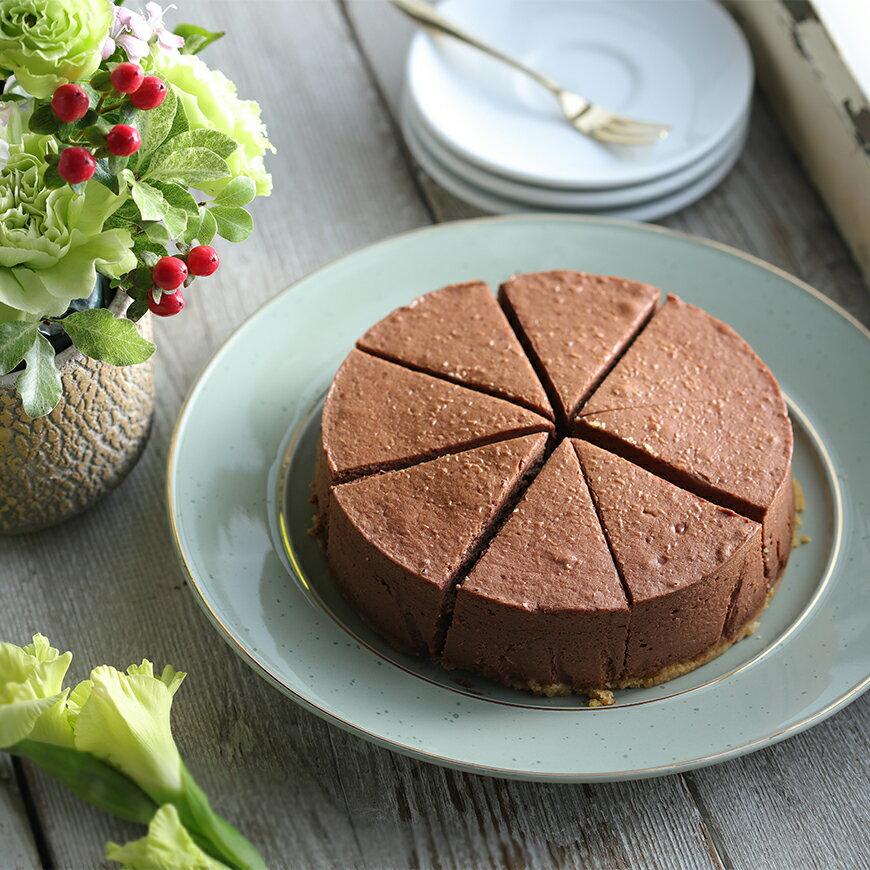 【水母吃乳酪】巧克力乳酪蛋糕,無膨鬆劑 減蛋 減糖 低脂 低油 低熱量
