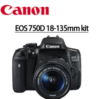 Canon Mall:分期零利率送32g高速卡+靜電抗刮保護貼+清潔好禮套組CanonEOS750D18-135mmkit旅遊鏡單鏡組數位單眼相機彩虹公司貨