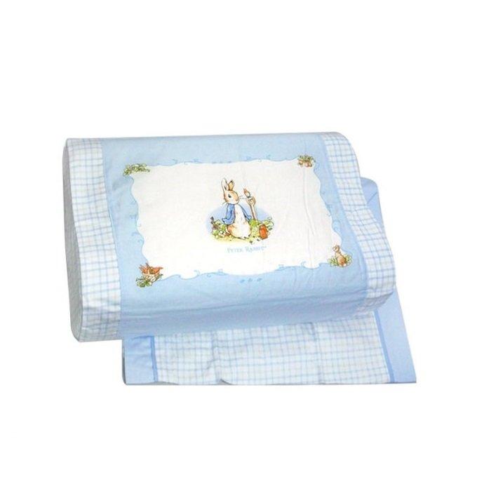 奇哥粉彩比得兔乳膠中童枕(附2入枕套)(藍色) 1125元