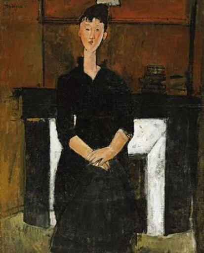 Bentley Global Arts PDX266893SMALL Woman Sat by A Fireplace Poster Print by Amedeo Modigliani, 10 x 12 - Small ce7fdb632b23258a10a42e0a2f51fb6c