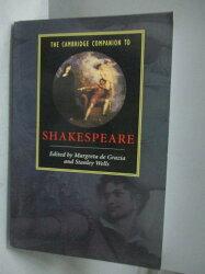 【書寶二手書T4/原文書_YHP】The Cambridge Companion to Shakespeare_De G