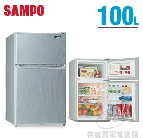 【佳麗寶】-留言享加碼折扣(SAMPO聲寶)迷你獨享冰箱-雙門冰箱-100公升【SR-A10G】