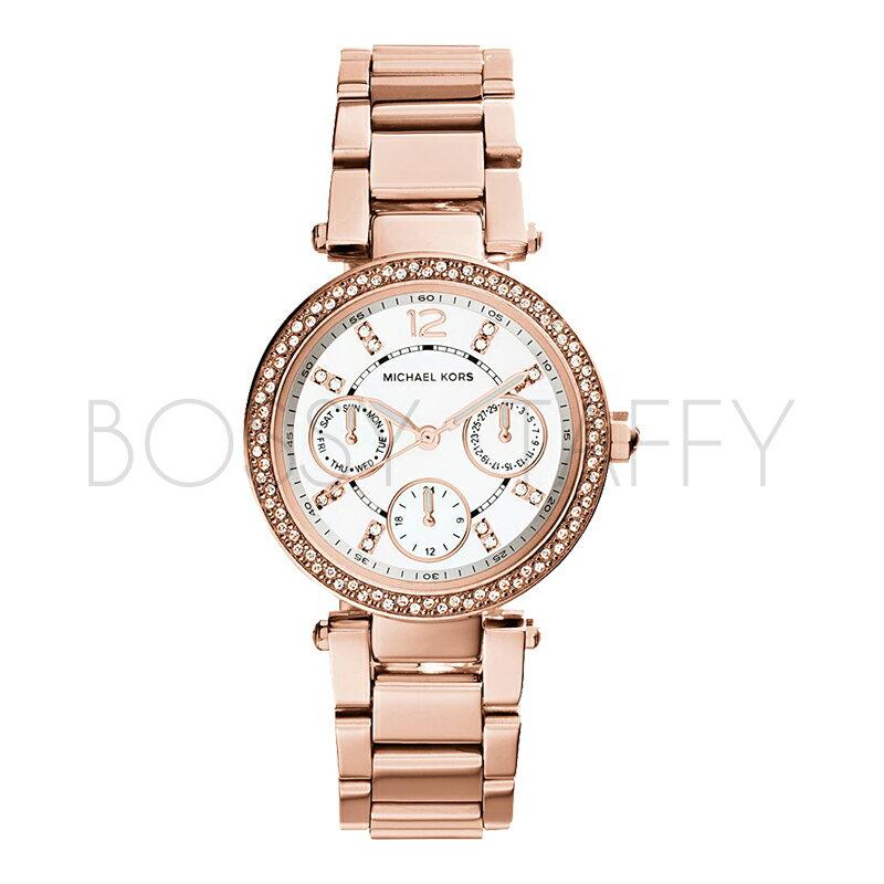 MK5616 MICHAEL KORS 圓盤鋼鏈鑲鉆奢華女錶