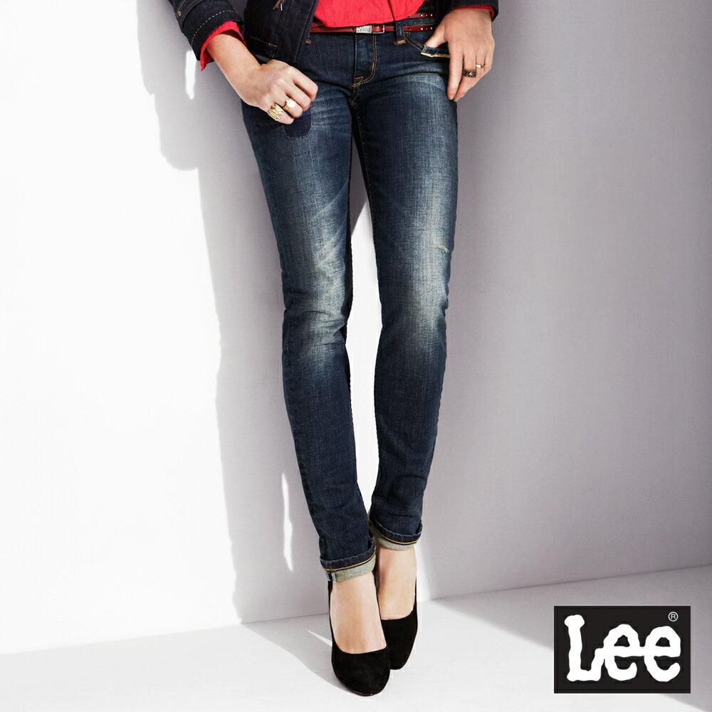 【單一價↘899】Lee Helena 403 合身窄管牛仔褲 -女款(中古藍)