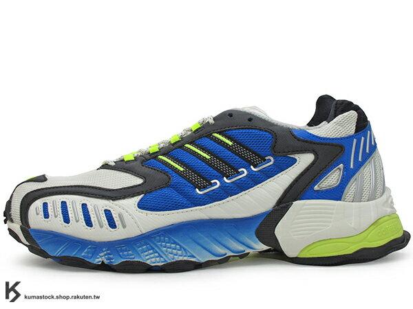 2019 限量發售 九零年代經典跑鞋重現 adidas Consortium TORSION TRDC 灰藍黃 老爹鞋式樣跑鞋 專利抗扭科技 (EE7999) ! 0