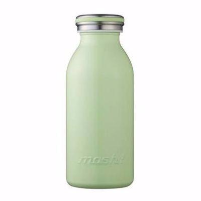 【日本mosh!】抹茶綠 牛奶系保溫瓶 (350ml)  免運特殺 0