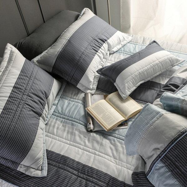 床罩組雙人加大【利物浦】五件式床罩組精梳棉,台灣製絲薇諾加碼送大型洗衣袋乙個