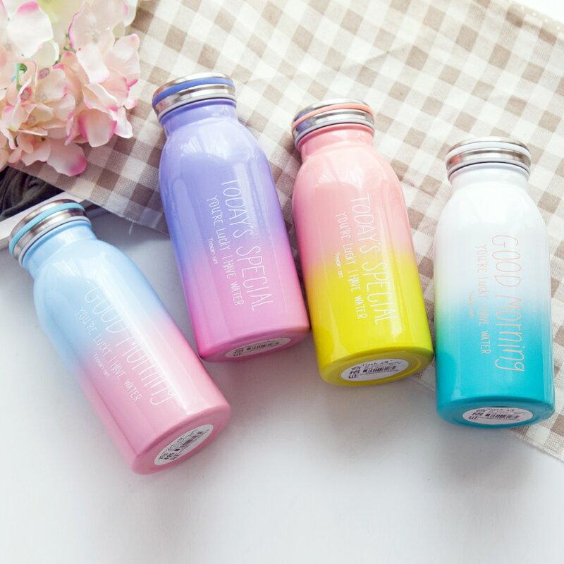 *限時免運*韓版字母漸層保溫瓶 牛奶瓶 水壺 水瓶
