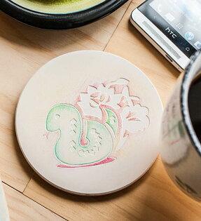 幸福森林:十二生肖-蛇杯墊
