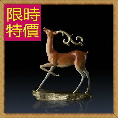 ~銅雕擺件鹿鳴~歐洲 家居擺設雕塑工藝品61ac7~義大利 ~~米蘭 ~