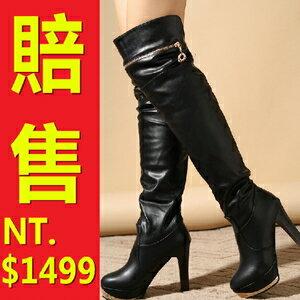 過膝長靴女靴子-流行時尚帥氣皮革鞋子女馬靴62l1【義大利進口】【米蘭精品】
