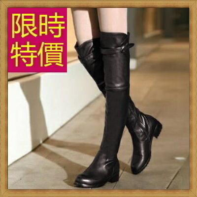 過膝長靴女靴子-流行時尚帥氣皮革鞋子女馬靴62l10【義大利進口】【米蘭精品】