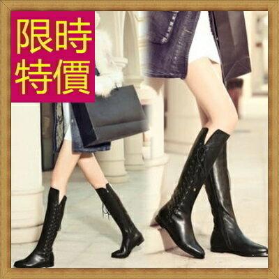 過膝長靴女靴子-流行時尚帥氣皮革鞋子女馬靴2色62l2【義大利進口】【米蘭精品】
