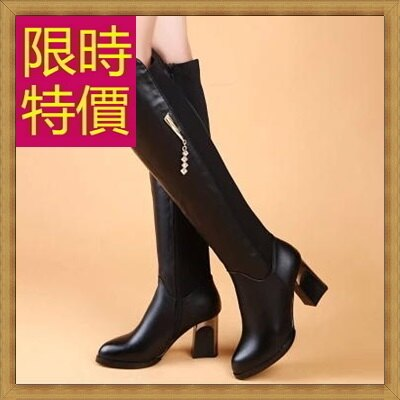 過膝長靴女靴子-流行時尚帥氣皮革鞋子女馬靴62l26【義大利進口】【米蘭精品】