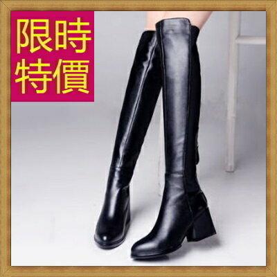 過膝長靴女靴子-流行時尚帥氣皮革鞋子女馬靴62l8【義大利進口】【米蘭精品】
