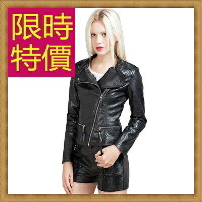皮衣外套機車夾克-龐克風迷人帥氣女外套2色62m11【韓國進口】【米蘭精品】