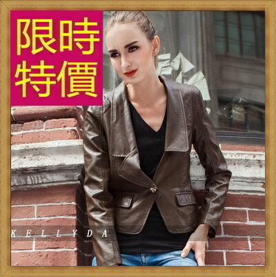 皮衣外套機車夾克-龐克風迷人帥氣女外套5色62m24【韓國進口】【米蘭精品】