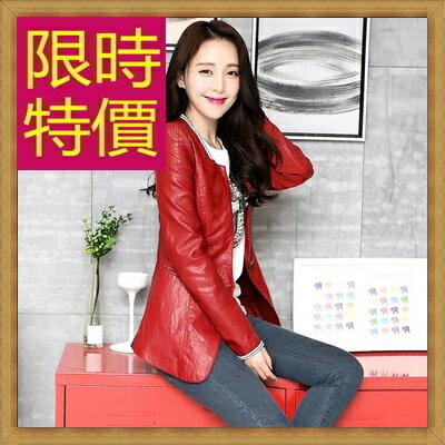 皮衣外套機車夾克-龐克風迷人帥氣女外套3色62m31【韓國進口】【米蘭精品】