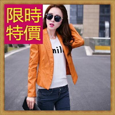 皮衣外套機車夾克-龐克風迷人帥氣女外套3色62m32【韓國進口】【米蘭精品】