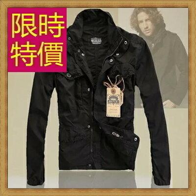 軍裝外套男夾克-時尚個性韓版修身立領男外套62o2【韓國進口】【米蘭精品】