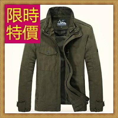 軍裝外套男夾克-時尚個性韓版修身立領男外套4色62o3【韓國進口】【米蘭精品】