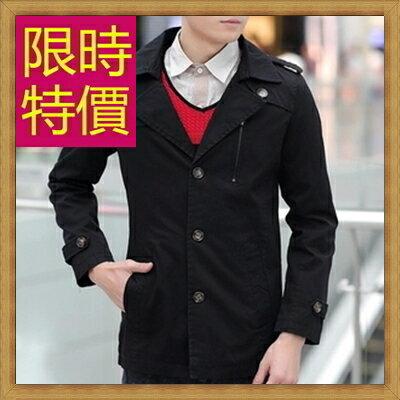軍裝外套男夾克-時尚個性韓版修身翻領男外套4色62o7【韓國進口】【米蘭精品】