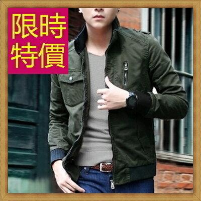 軍裝外套男夾克-時尚個性韓版修身立領男外套4色62o8【韓國進口】【米蘭精品】