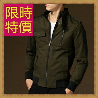 軍裝外套男夾克-時尚個性韓版修身立領男外套7色62o9【韓國進口】【米蘭精品】