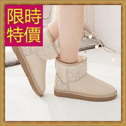 ★雪靴女短靴子-流行柔軟保暖皮革女鞋子5色62p20【韓國進口】【米蘭精品】