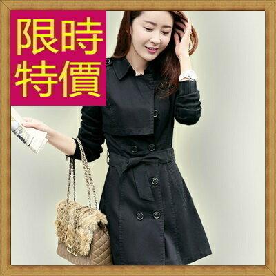 風衣外套女大衣-修身保暖迷人長版女外套3色62q33【韓國進口】【米蘭精品】
