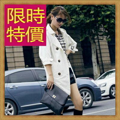 風衣外套女大衣-修身保暖迷人長版女外套2色62q38【韓國進口】【米蘭精品】