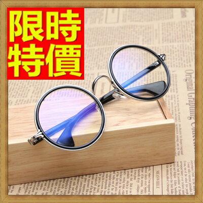 <br/><br/>  ☆眼鏡框鏡架-中性簡約圓框復古男女配件5色64ah3【獨家進口】【米蘭精品】<br/><br/>