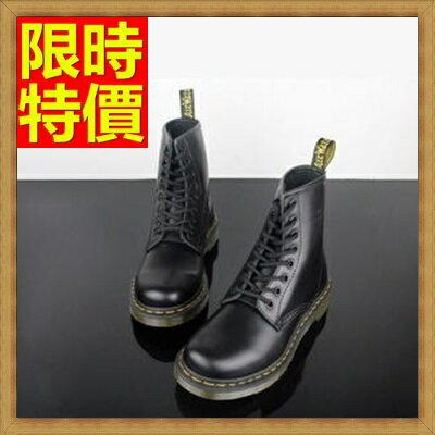 馬丁靴女中筒靴子-經典真皮8孔硬皮歐美女鞋子1色65d62【獨家進口】【米蘭精品】
