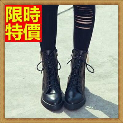 馬丁靴女中筒靴子-時尚優雅真皮女鞋子1色65d68【獨家進口】【米蘭精品】