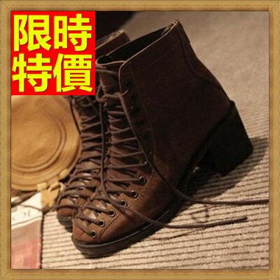 馬丁靴女中筒靴子-英倫復古真皮女鞋子1色65d96【獨家進口】【米蘭精品】