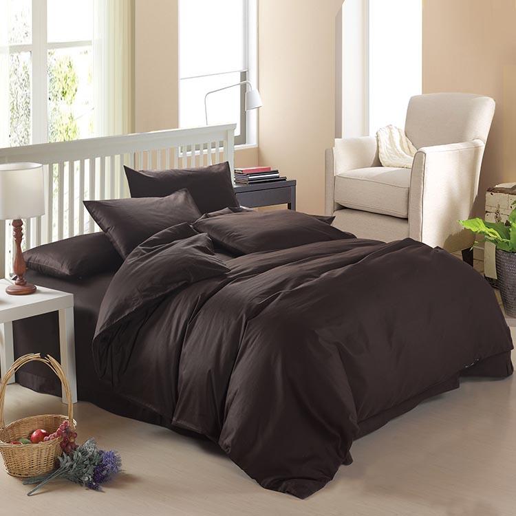 ★雙人寢具組四件套含枕頭套+棉被套+床罩-純棉單色精品床包組11色65i1【獨家進口】【米蘭精品】