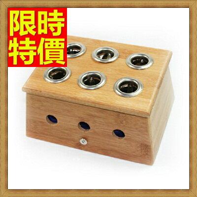 艾草針灸盒  艾灸器具-六孔竹製艾灸盒祛寒溫灸盒多功能65j22【獨家進口】【米蘭精品】