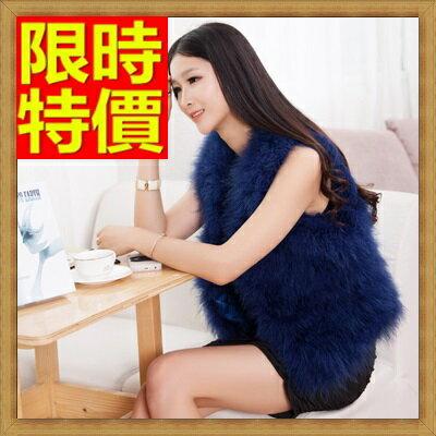 皮草背心女外套-時尚鴕鳥毛短款保暖女無袖馬甲5色65m2【獨家進口】【米蘭精品】