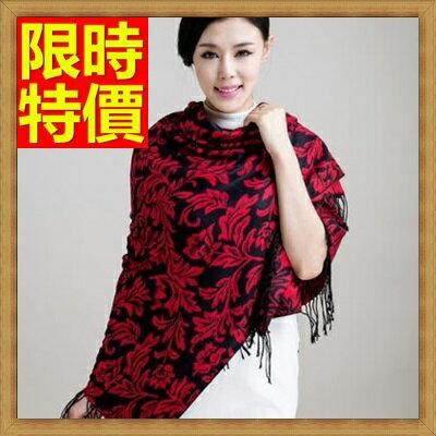 披肩大方巾-秋冬新款女羊絨葉子雙面保暖加厚款圍巾女性配件65p26【獨家進口】【米蘭精品】