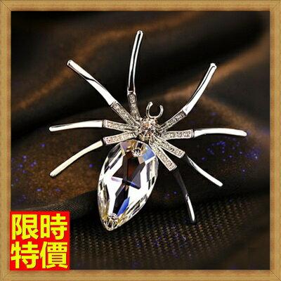 ★胸針胸章-復古高檔水晶蜘蛛女別針65q35【獨家進口】【米蘭精品】 0