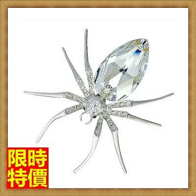 ★胸針胸章-復古高檔水晶蜘蛛女別針65q35【獨家進口】【米蘭精品】 1