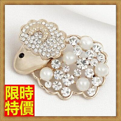 ☆胸針胸章-三羊開泰高檔珍珠時尚女別針65q4【獨家進口】【米蘭精品】 0