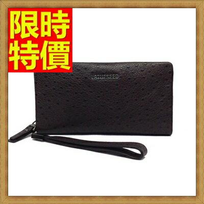 手拿包  錢包-奢華品質優質選材鴕鳥紋男皮包65s19【獨家進口】【米蘭精品】