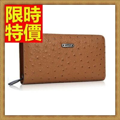 手拿包  錢包-獨特魅力紳士系列鴕鳥紋男皮包65s23【獨家進口】【米蘭精品】
