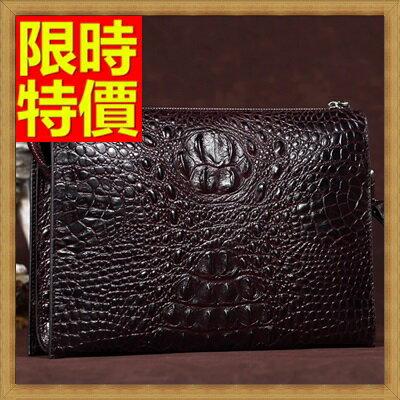 ★手拿包 錢包-貴族風情目光焦點鱷魚紋男皮包4色65s28【獨家進口】【米蘭精品】 1
