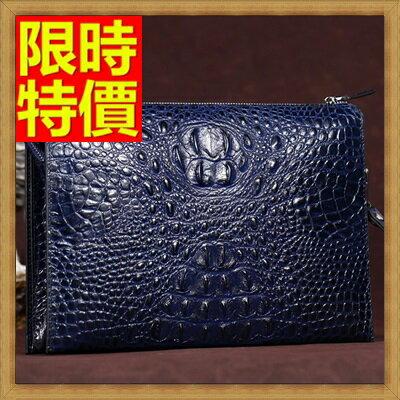 ★手拿包 錢包-貴族風情目光焦點鱷魚紋男皮包4色65s28【獨家進口】【米蘭精品】 2