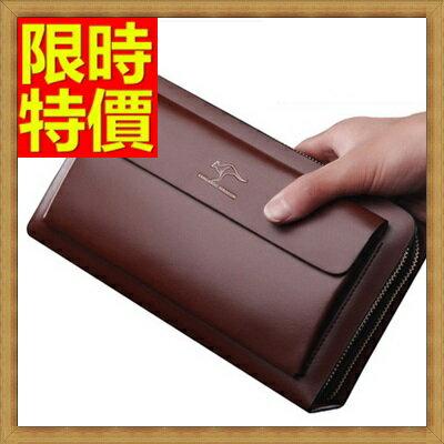 ★手拿包 錢包-超強防水高端拉鍊男皮包2色2款-大65s43【獨家進口】【米蘭精品】 1