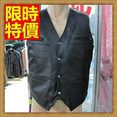 皮背心  皮馬甲-真羊皮V領設計柔軟溫和男外套65t7【獨家進口】【米蘭精品】