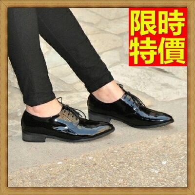 牛津鞋女皮鞋-平跟繫帶真皮英倫女鞋子5款65y34【獨家進口】【米蘭精品】