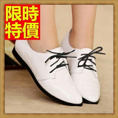 牛津鞋女皮鞋-平底尖頭真皮英倫女鞋子3色65y37【獨家進口】【米蘭精品】